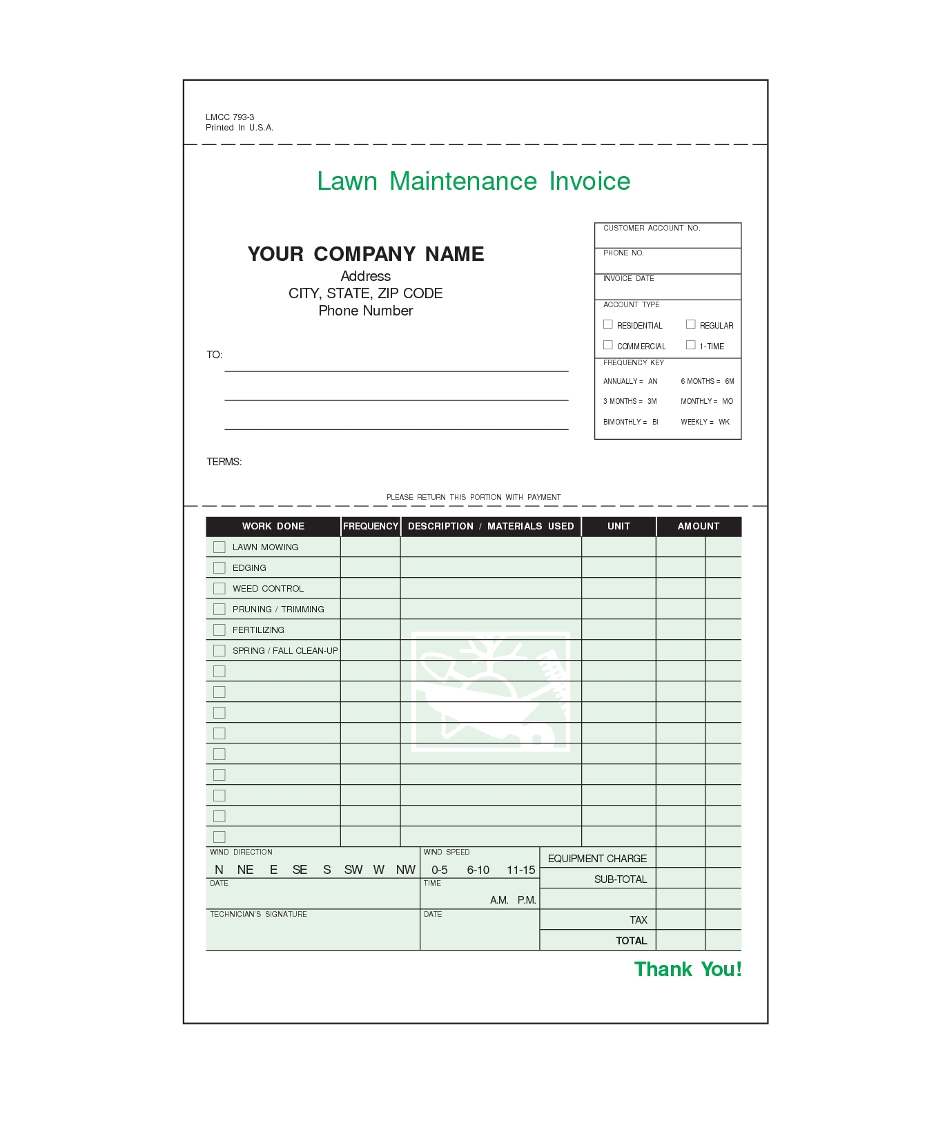 lawn care invoices invoice template ideas lawn care invoice template
