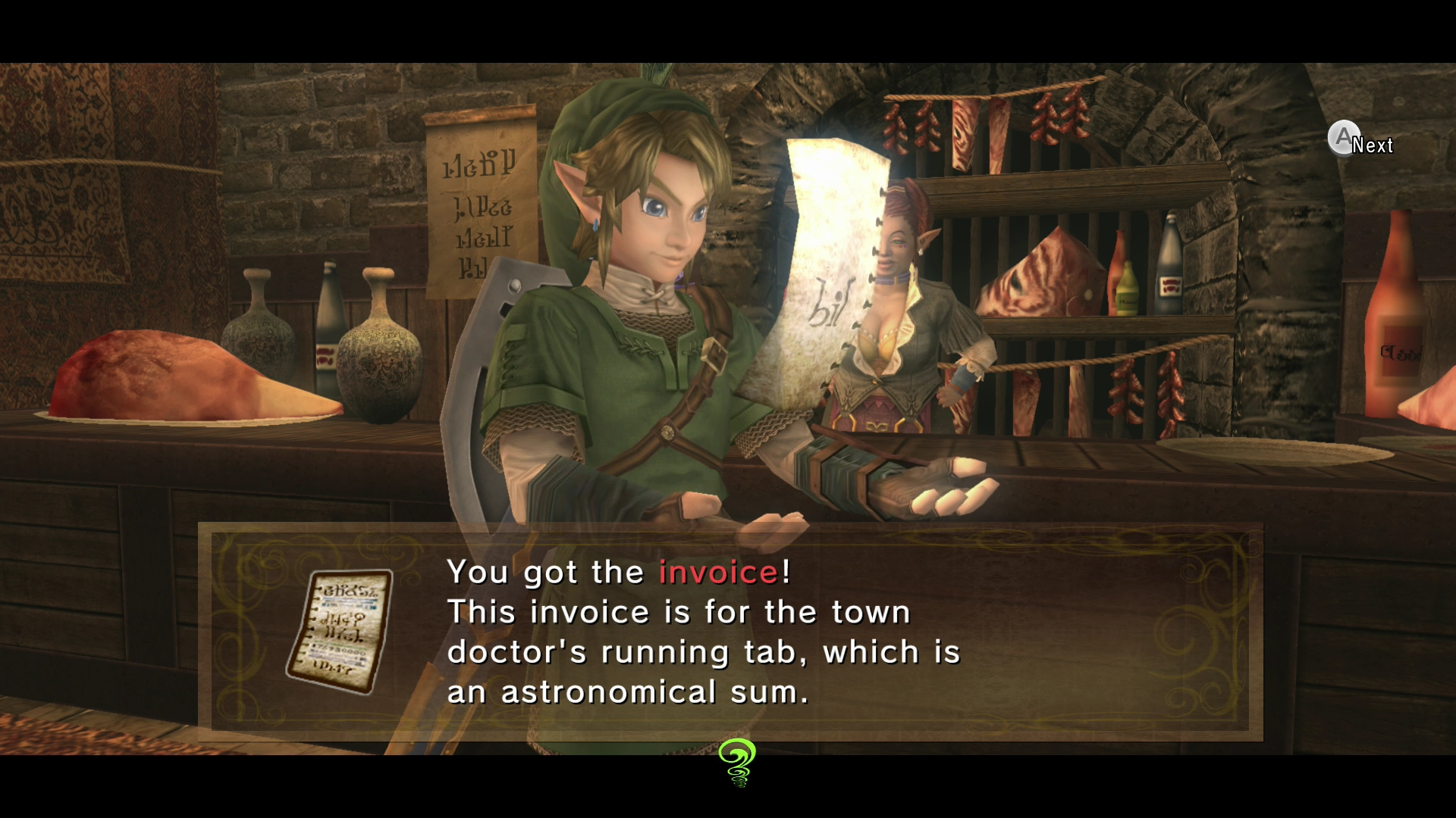 Twilight Princess Invoice