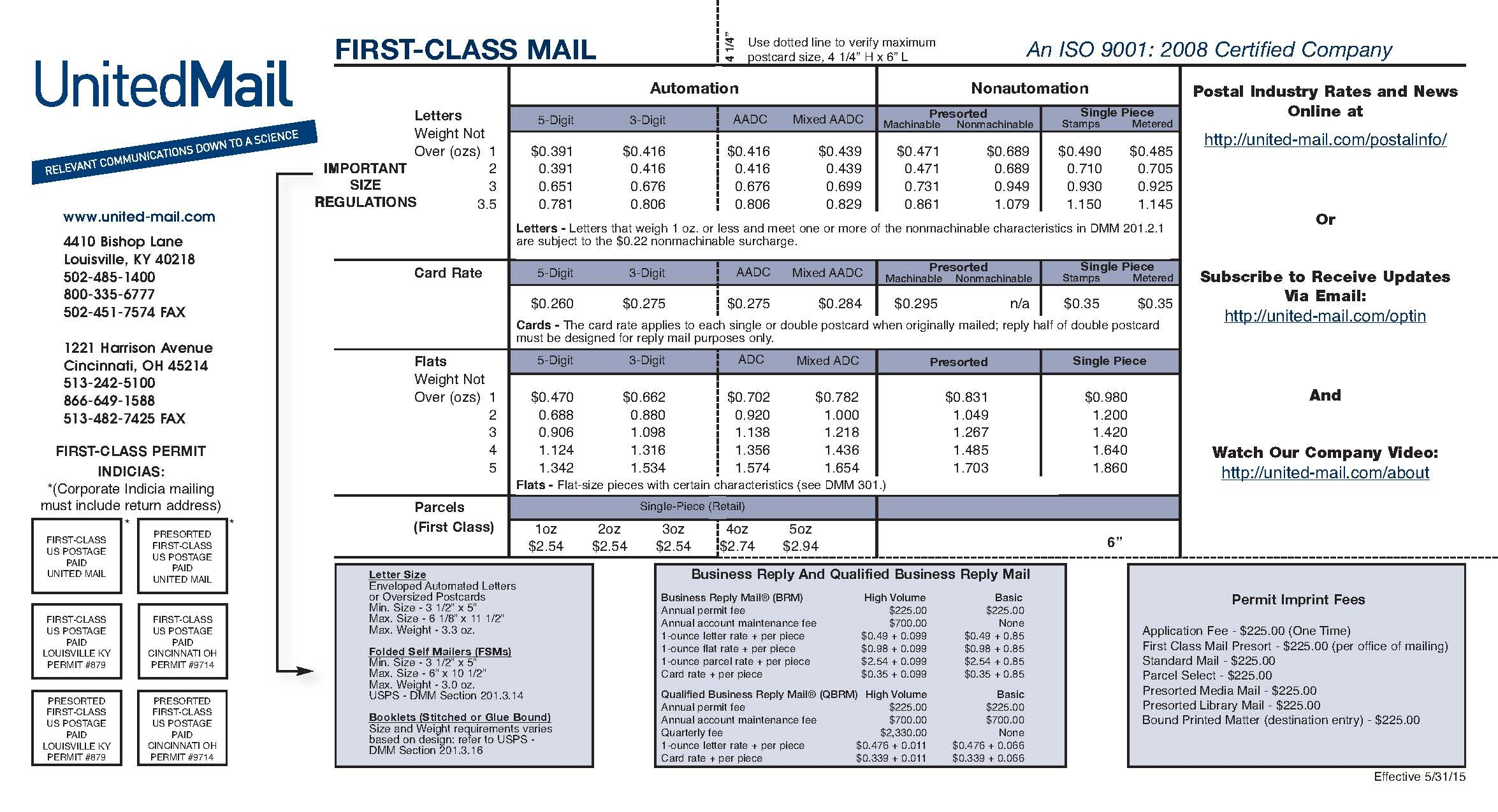 usps postage rate increase breakdown for presort customers usps invoice number