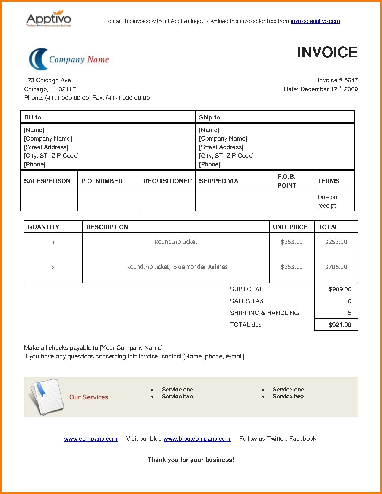 8 microsoft invoice template receipt templates invoice template microsoft
