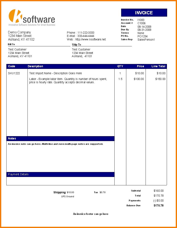 generic invoice pdf invoice template pdf printable invoice template 862 X 1112