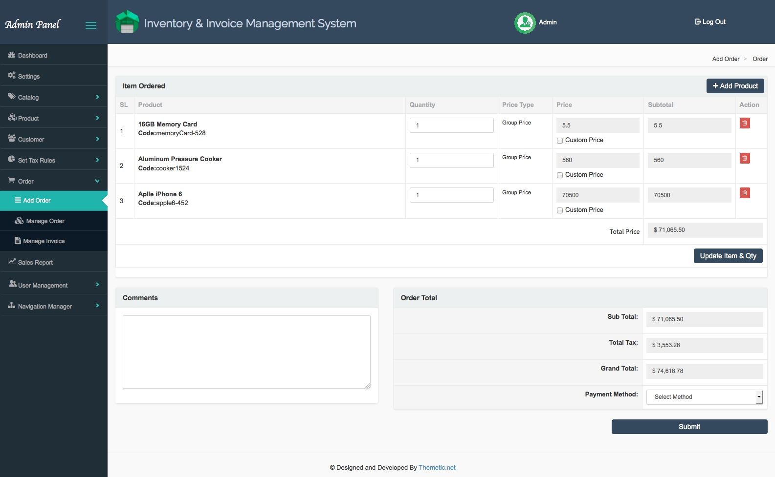 inventory and invoice management system iims v 12 fratelloneit invoice management systems