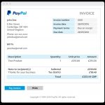 Invoice In Paypal