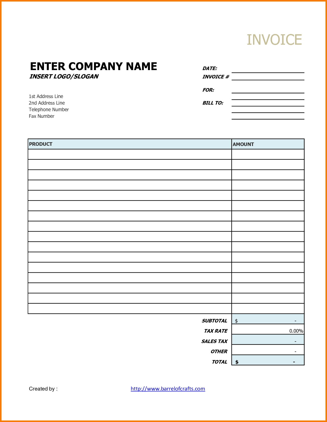 printable invoice template your sourche for printable invoice generic invoice template free