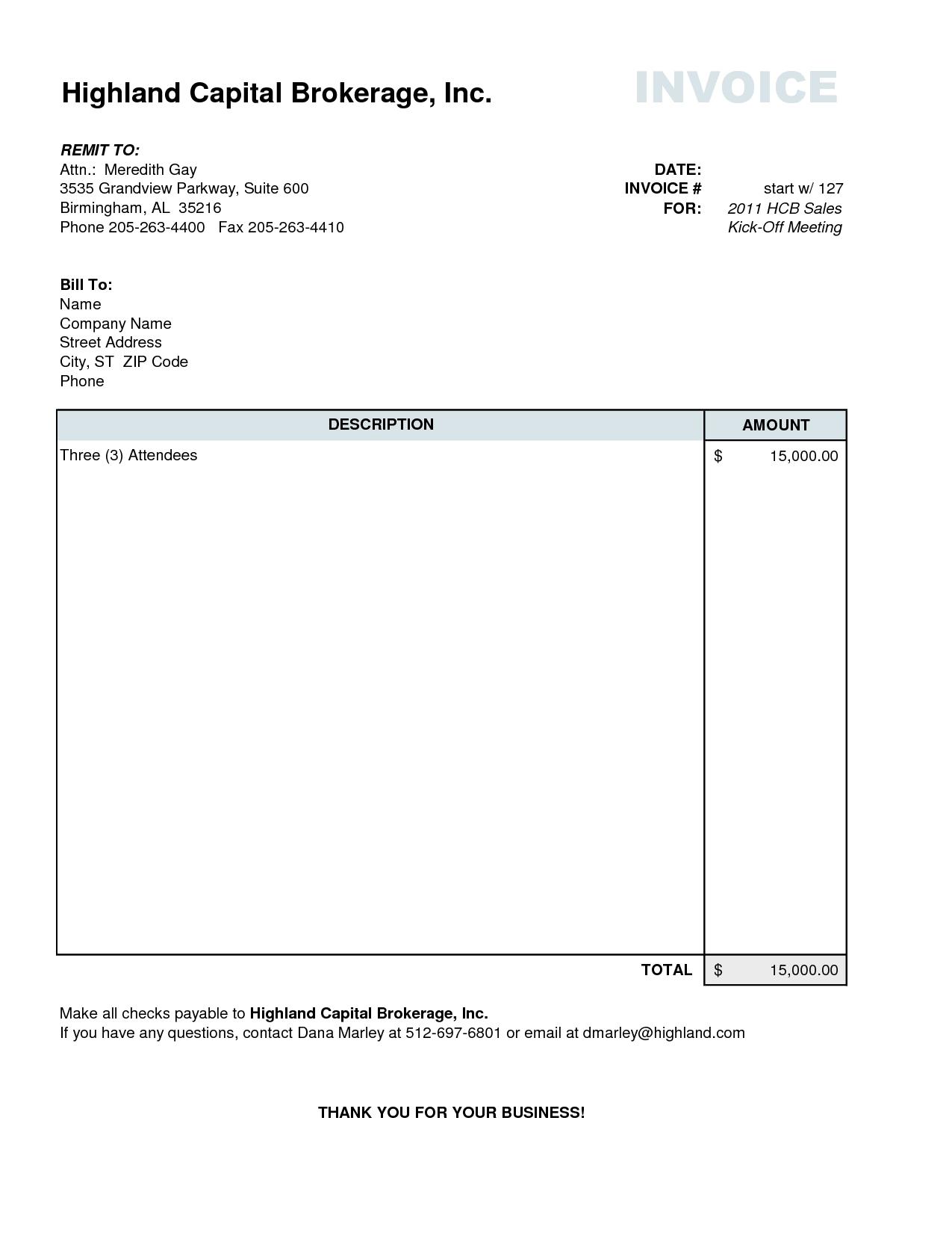 sample invoice copy invoice copy sample free printable invoice 1275 X 1650