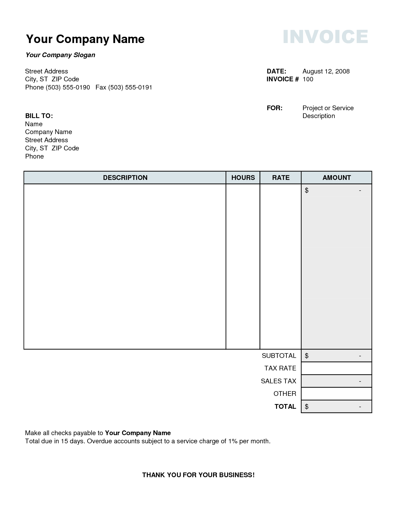 tax invoice template excel free business template tax invoice template excel