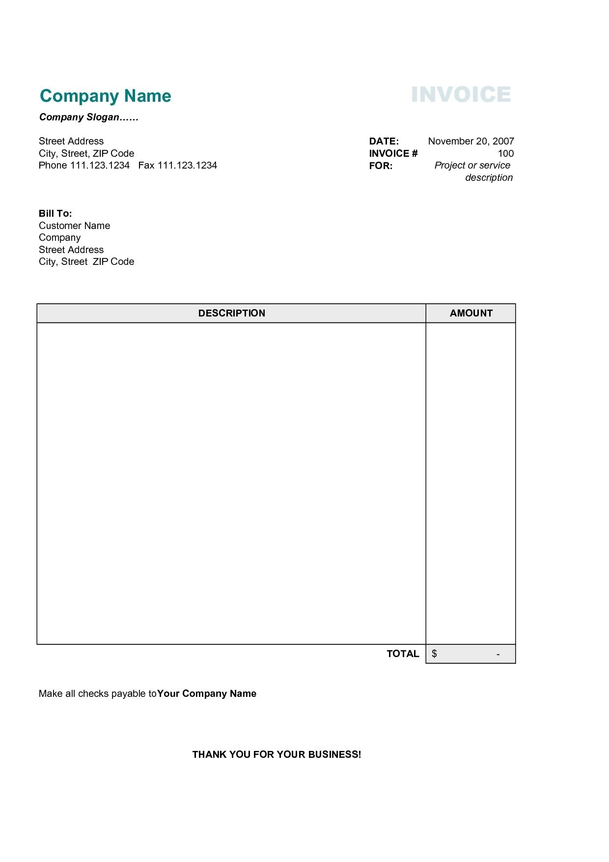 17 best photos of printable commercial invoice sample simple invoice free template