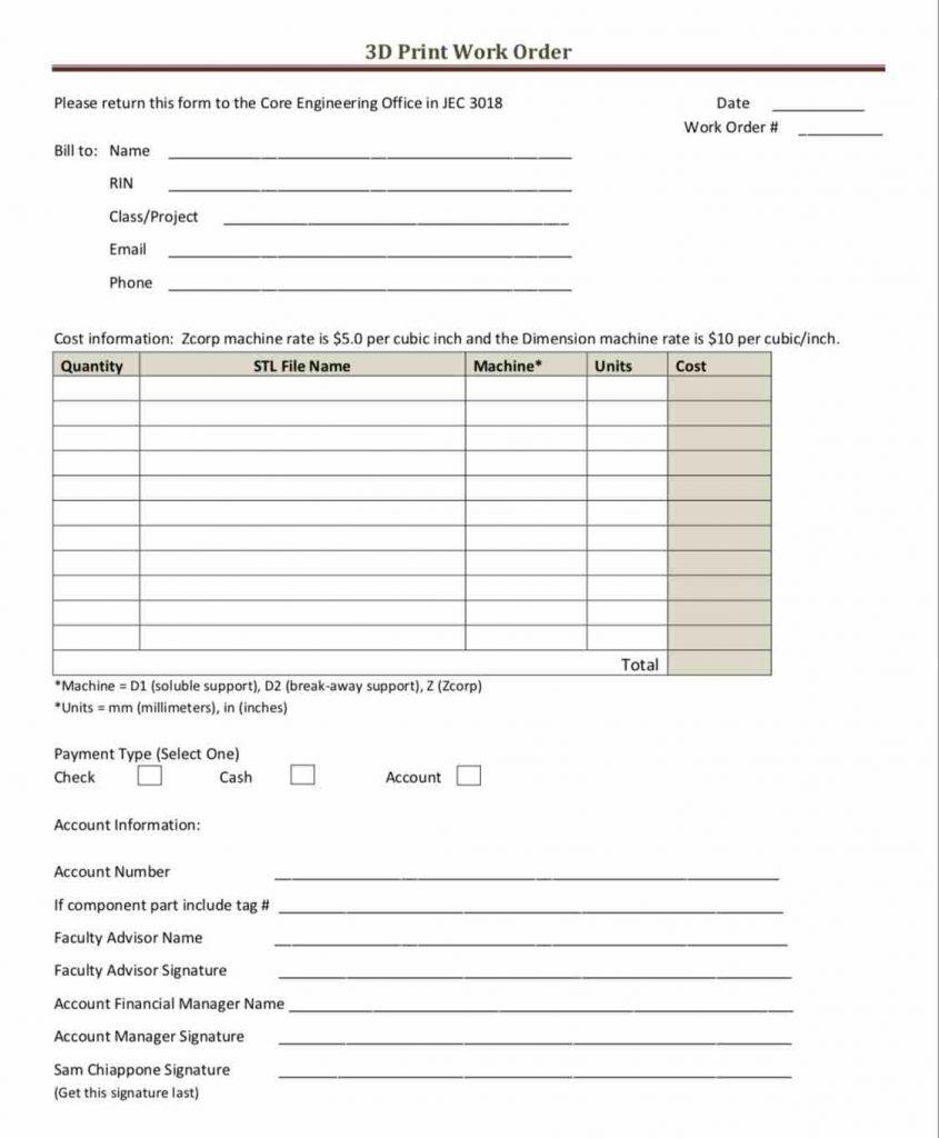 39 work order templates download pdf work order format free edit print work form template