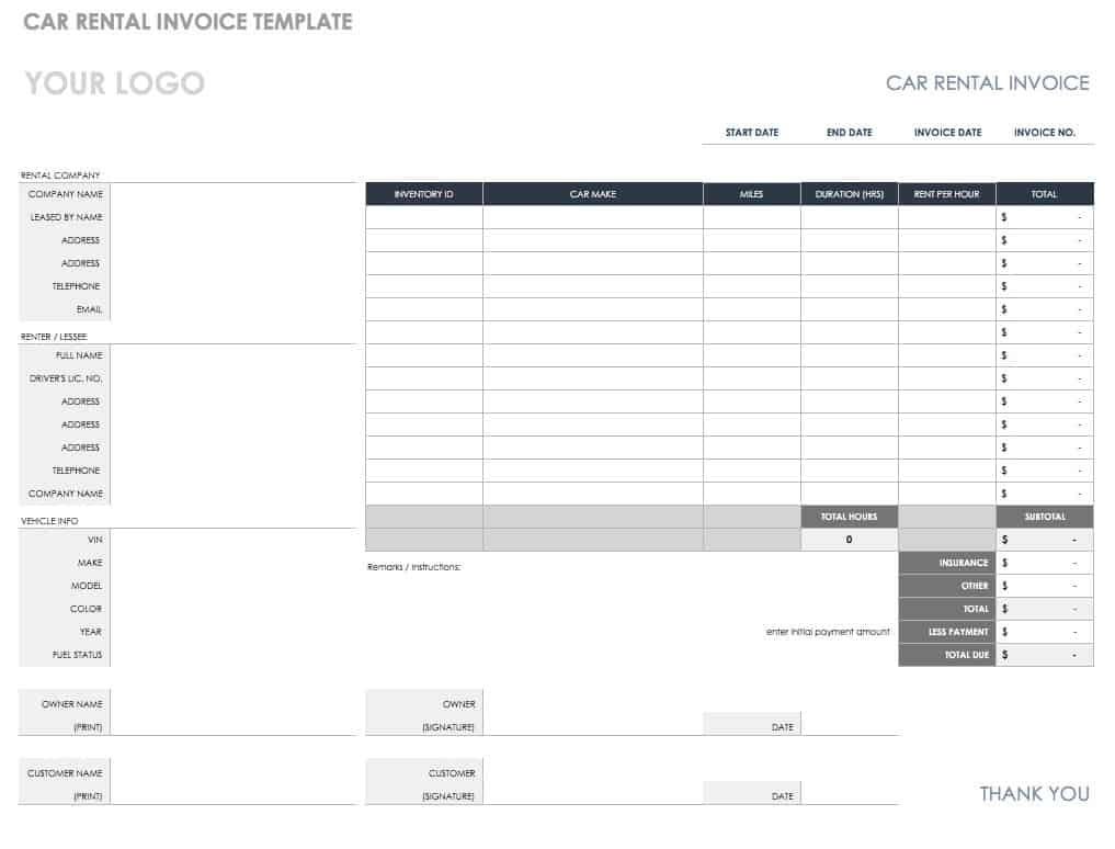 55 free invoice templates smartsheet monthly billing statement template blank