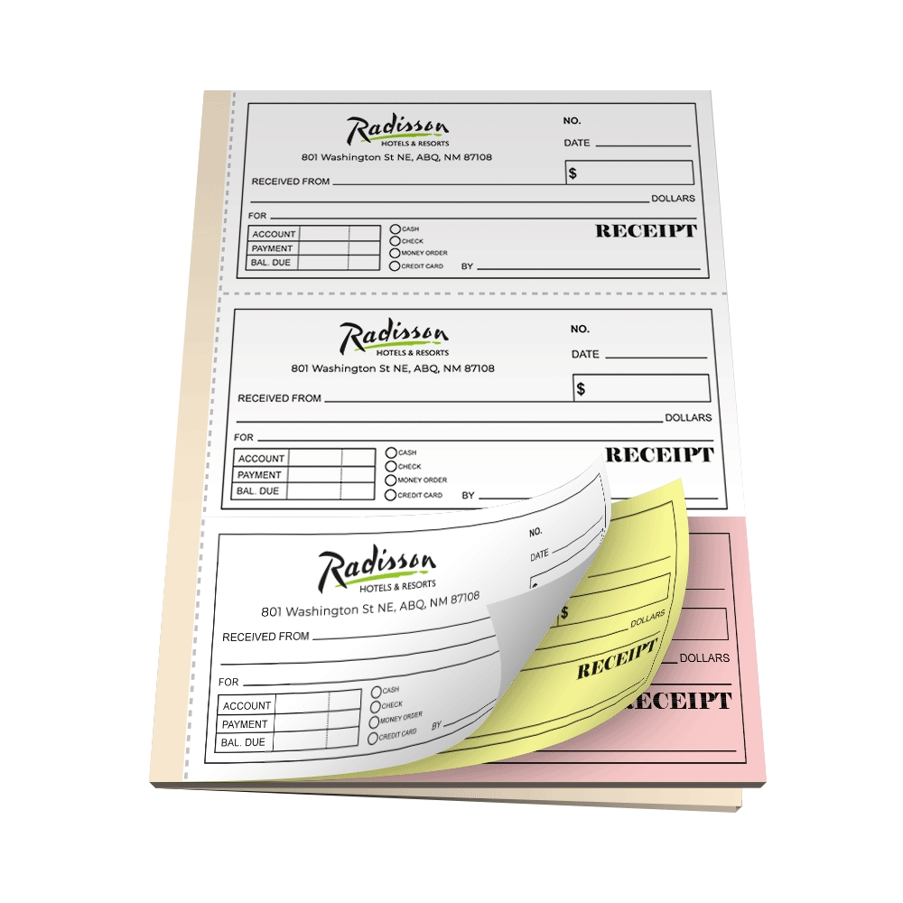 custom carbonless ncr receipt books printpps pre printed carbonless invoices