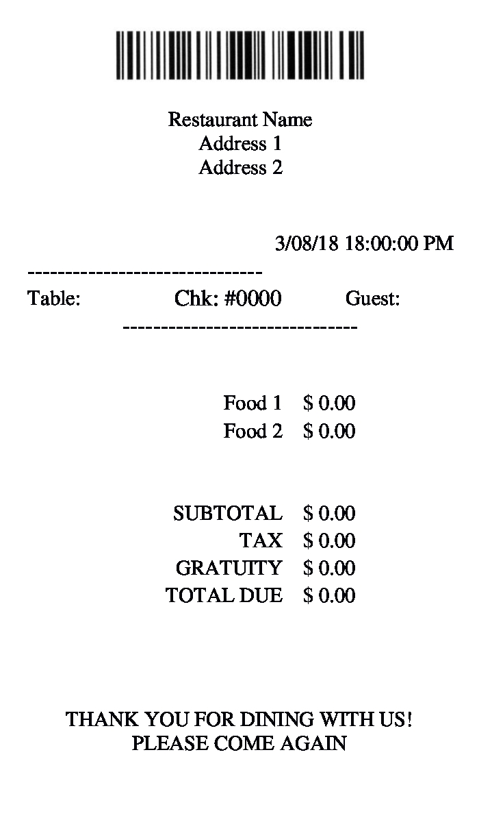 free 9 restaurant receipt forms in pdf doc xls food and drinks receipts sample