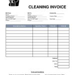 House Cleaning Services Invoice