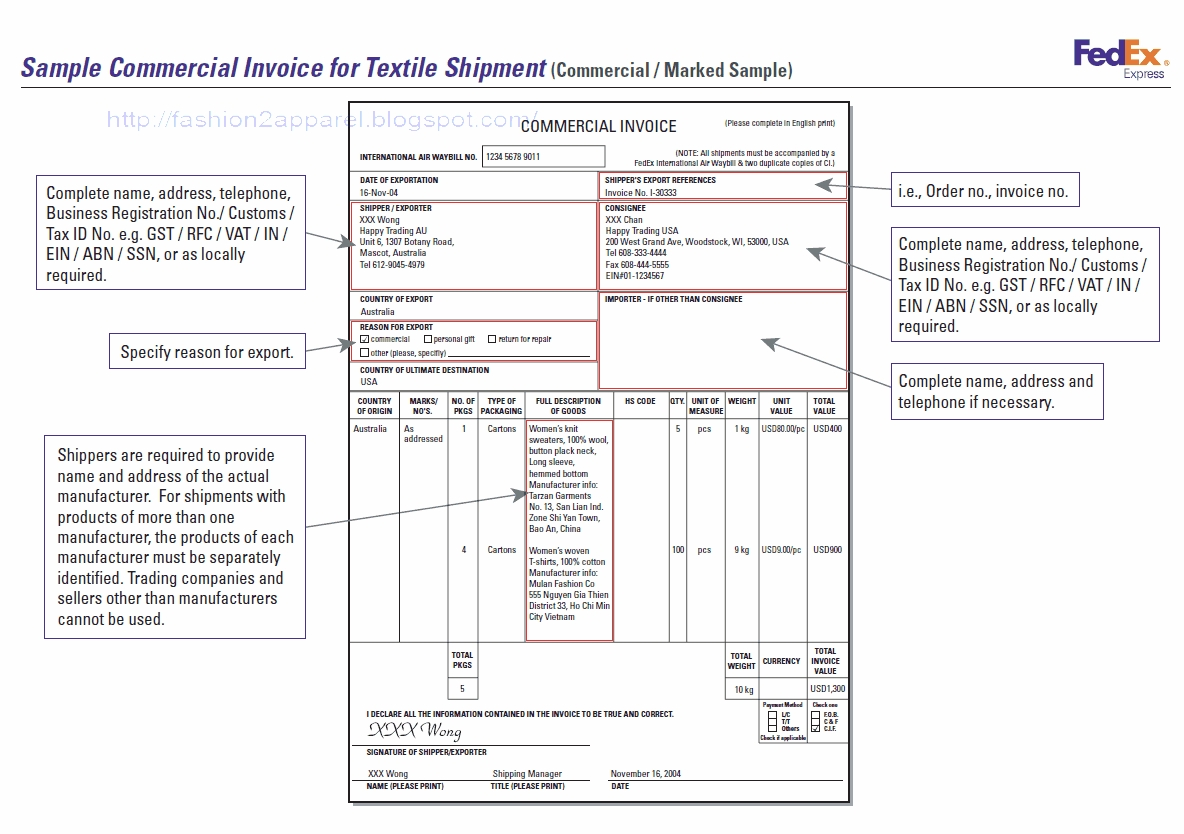 garment export procedure and documentation fashion2apparel commercial documents for export
