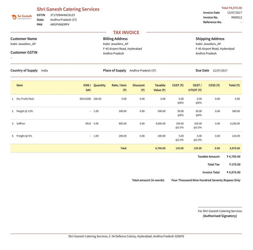 gst invoice guide learn about gst invoice rules bill format tax invoice memo demo under gst