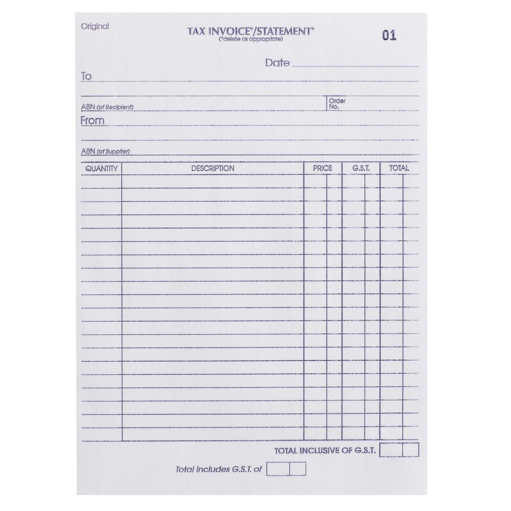 olympic no726 carbonless duplicate invoicestatement book template olympic tax invoice
