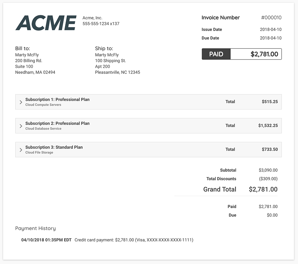 relationship invoicing show tell invoice consolidation example of a credit control invoice