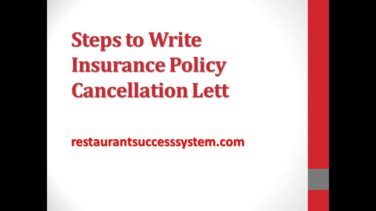 steps to write insurance policy cancellation letter 2016 funeral policy termination letter