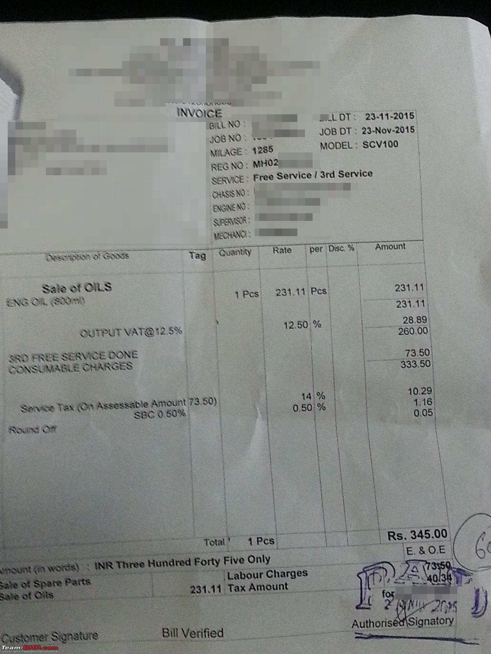 vl motors santacruz honda 2 wheeler service centre honda activa invoice details