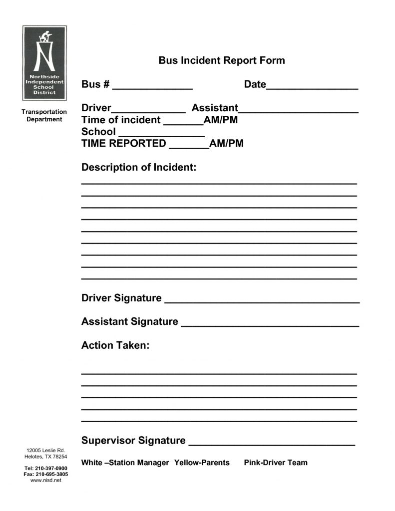 015 template ideas accident reporting form templates report example of a school report at south africa