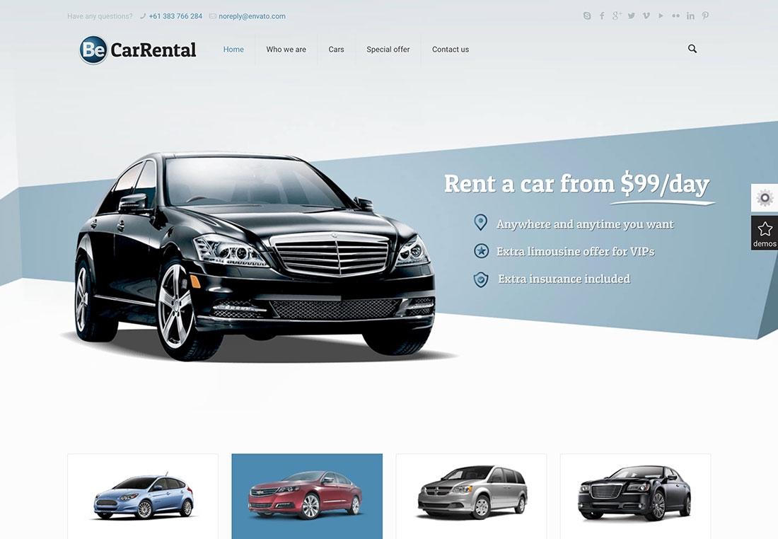 22 mobile friendly car rental wordpress themes 2019 colorlib tours and travel car km rate format