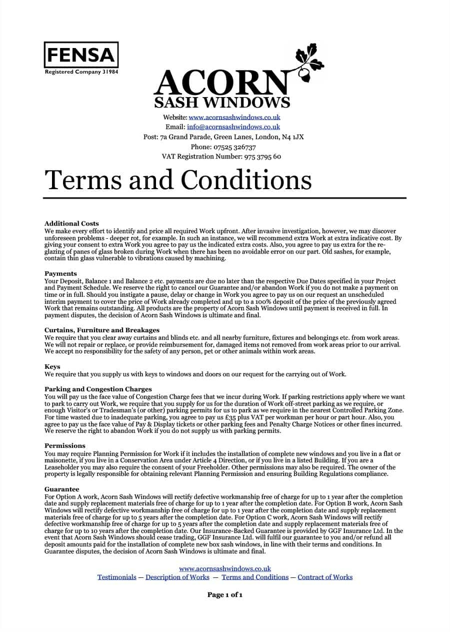 40 free terms and conditions templates for any website payment terms and conditions template