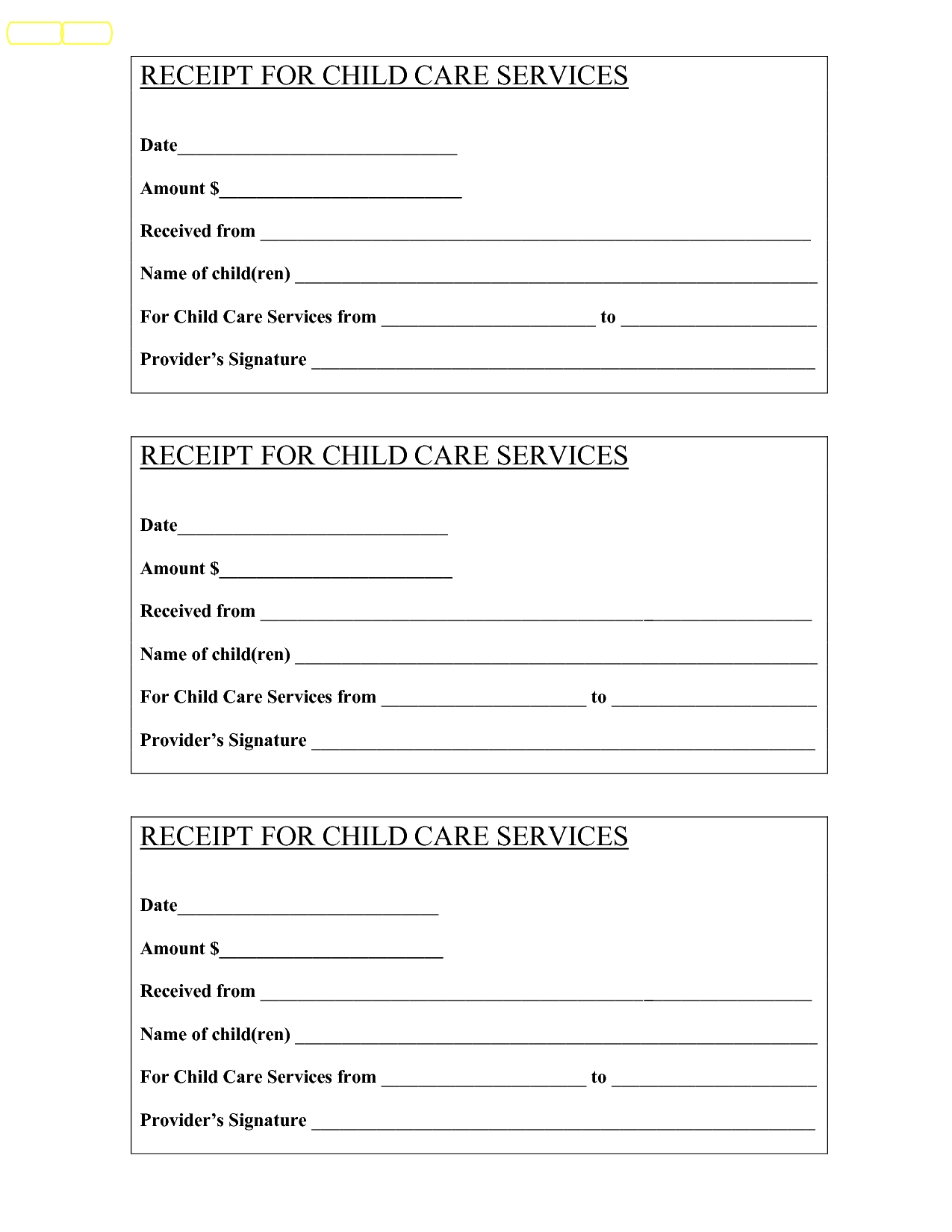 basitting receipt bing images child care services child care receipt template