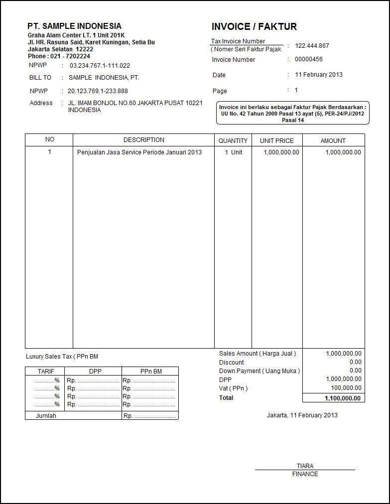 contoh invoice akuntansi contoh invoice dan proforma invoice