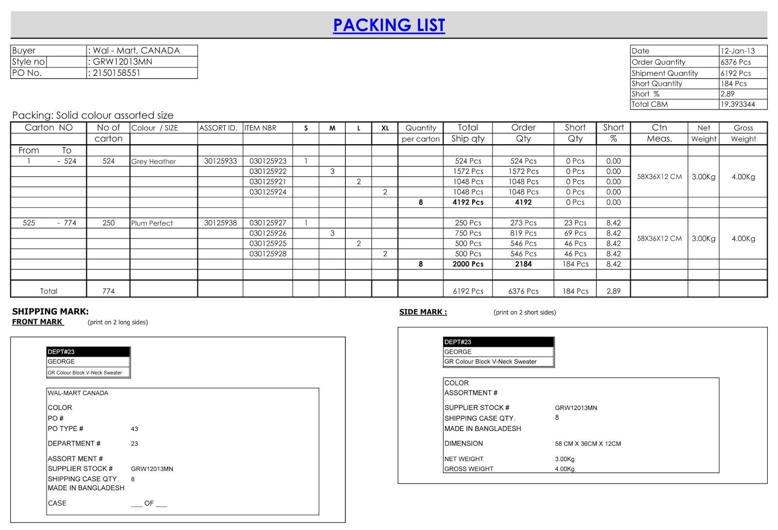 contoh invoice dan packing list merotoh contoh packing list dan invoice