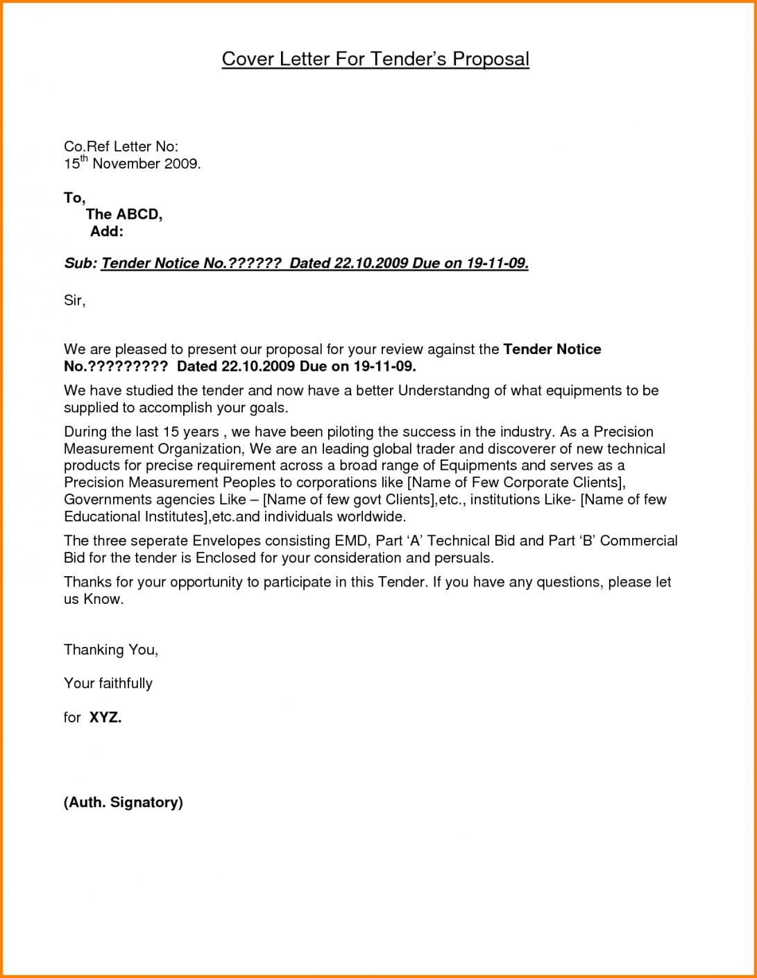 covering letter format for quotation 6 application of tender housekeeping quotation letter format
