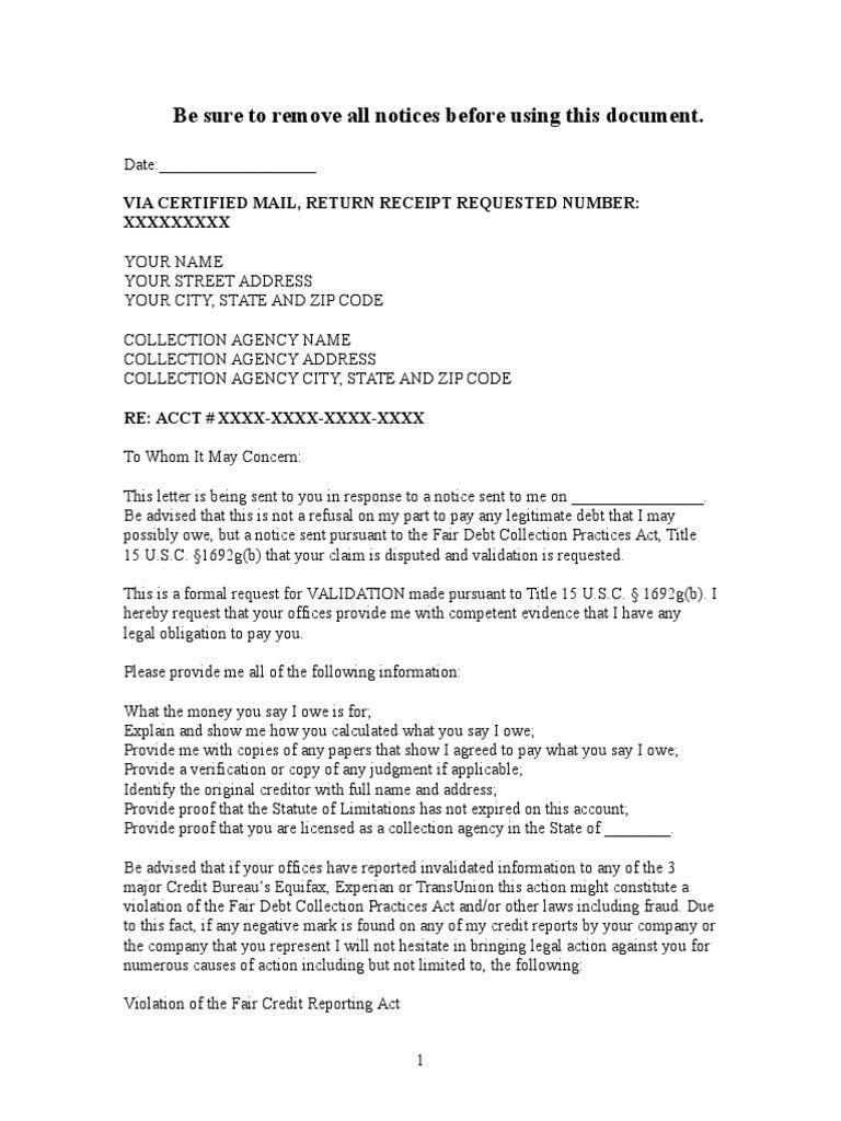debt collection letter sample debt validation letter to medical debt dispute letter
