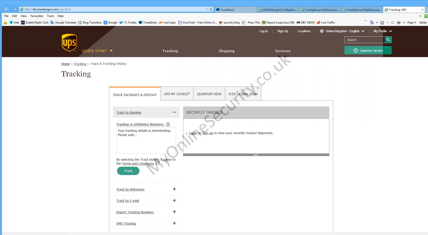 fake ups quantum view ups ship notification tracking number ups tracking by name