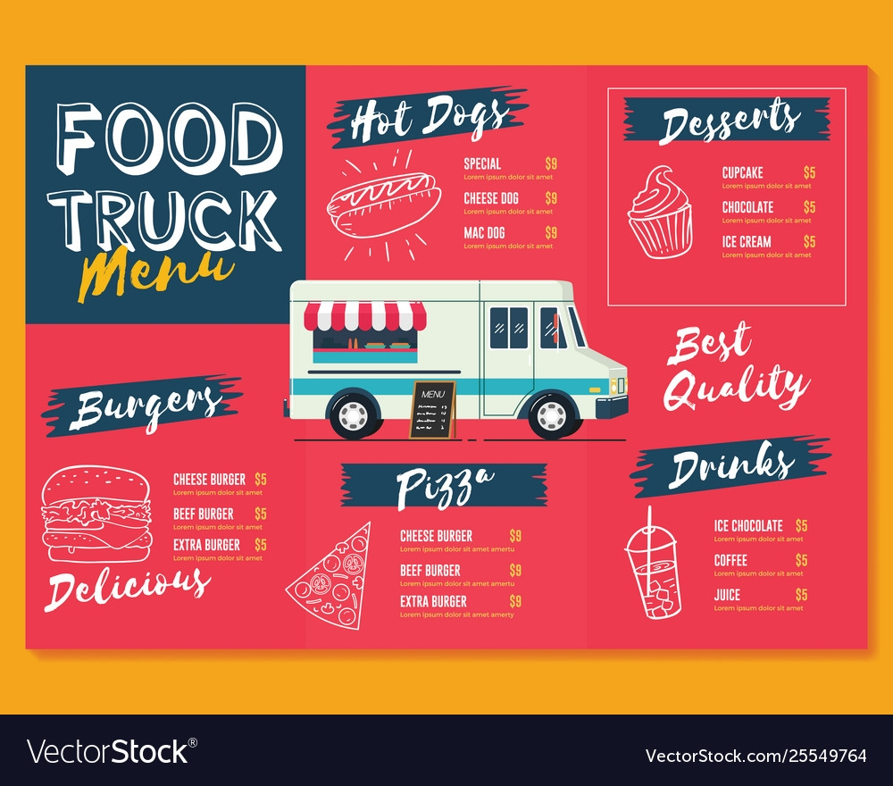 food truck menu template fast food brochure menu truck the price template