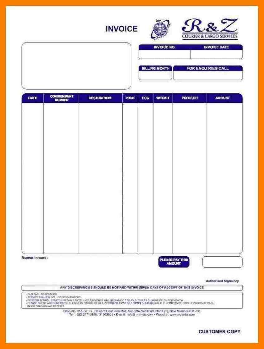 invoice car travels bill format sample travel invoice tours bill format for travels