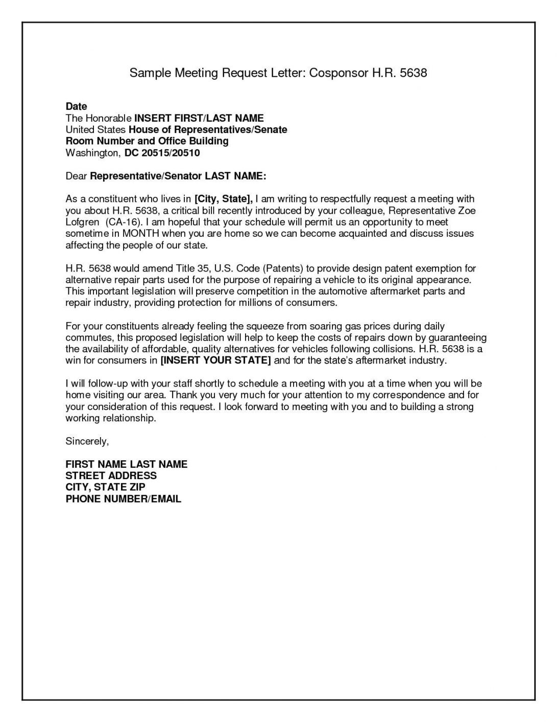 letter format for a meeting request sample business letter format for asking bill