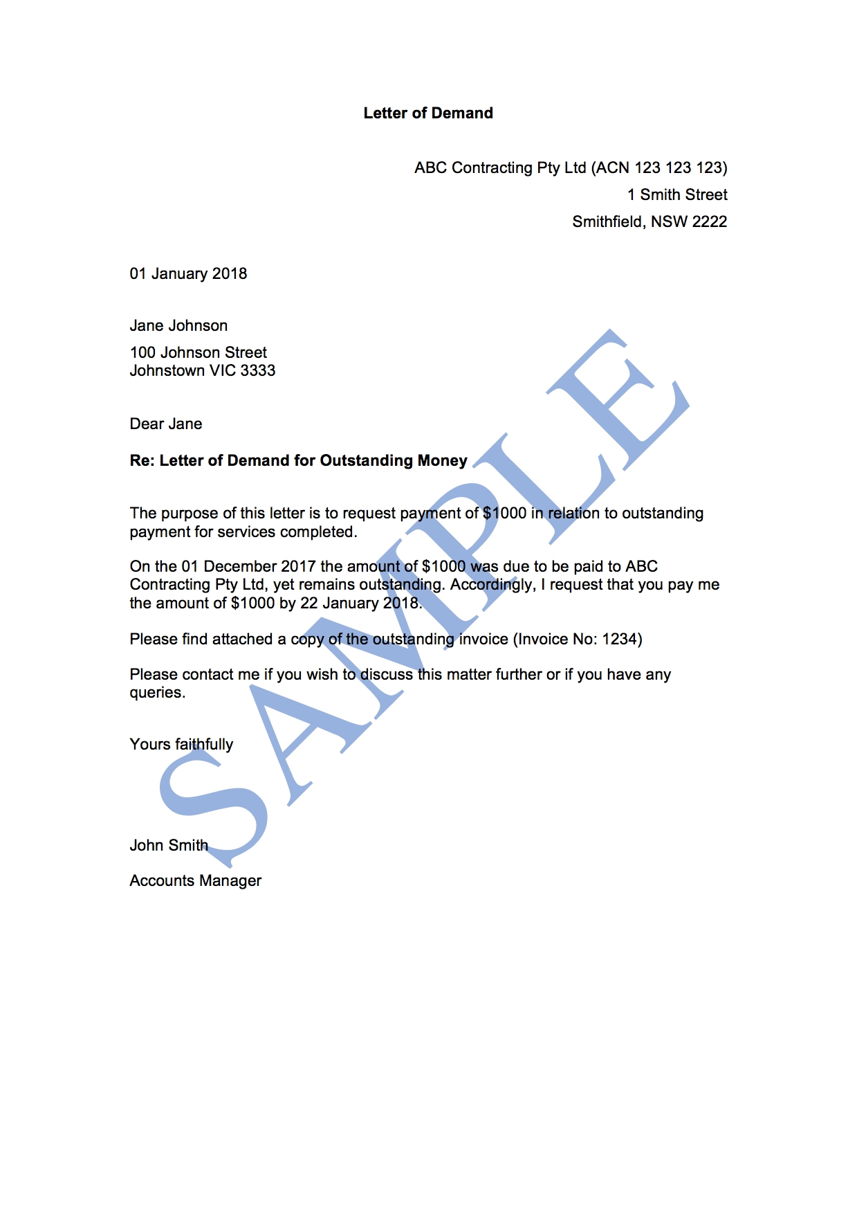 letter of demand 1st attempt free template sample letters of demand to a company to pay outstanding invoices