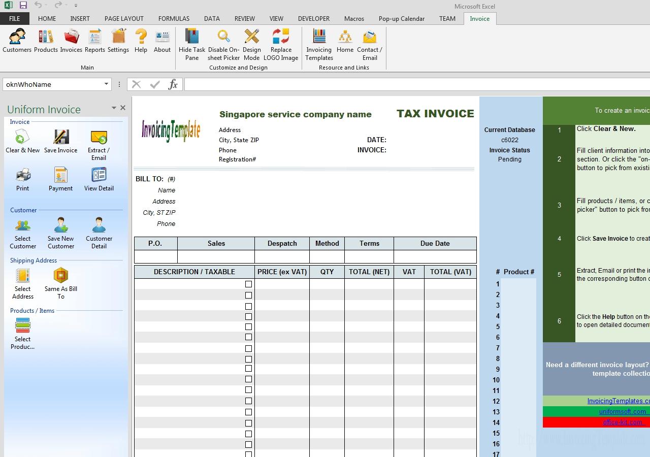singapore gst invoice template service gst singapore bill invoice