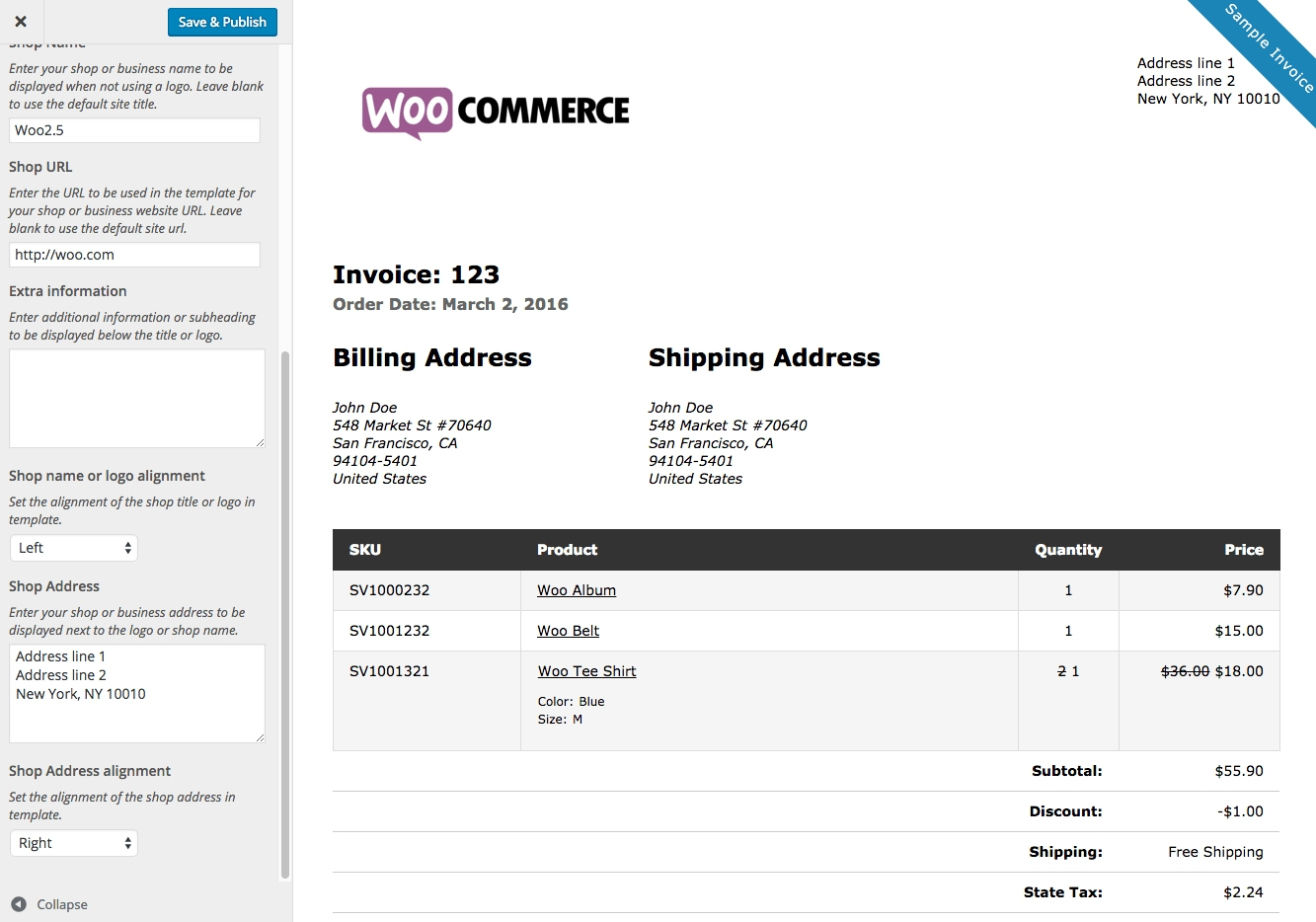 woocommerce print invoices packing lists woocommerce invoice packing list sample