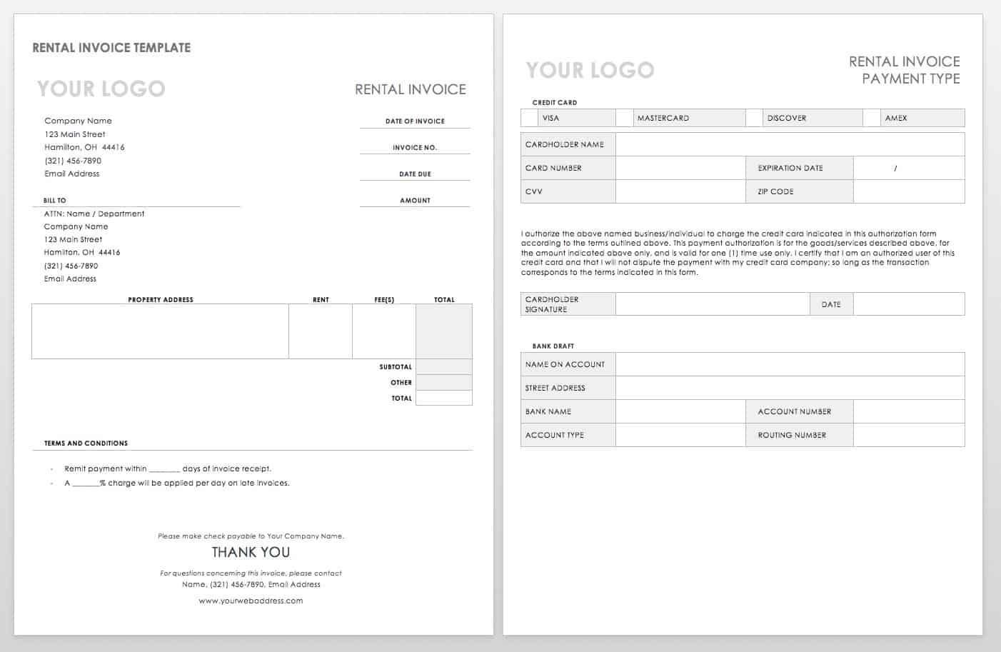 55 free invoice templates smartsheet lodge bill format in word