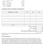 Blank Tax Invoice Template Australia