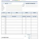 Blank Printable Auto Repair Invoice