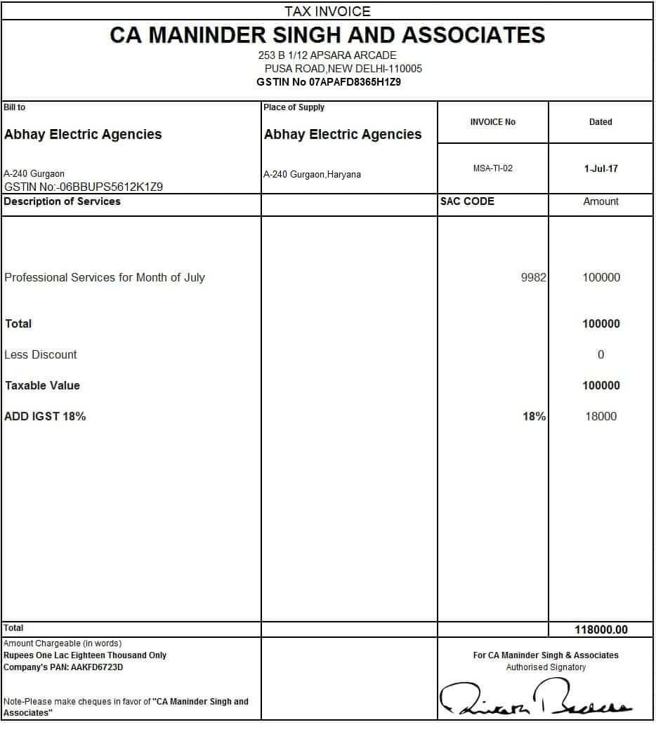 billing formats mahrehorizonconsultingco format of gst bill