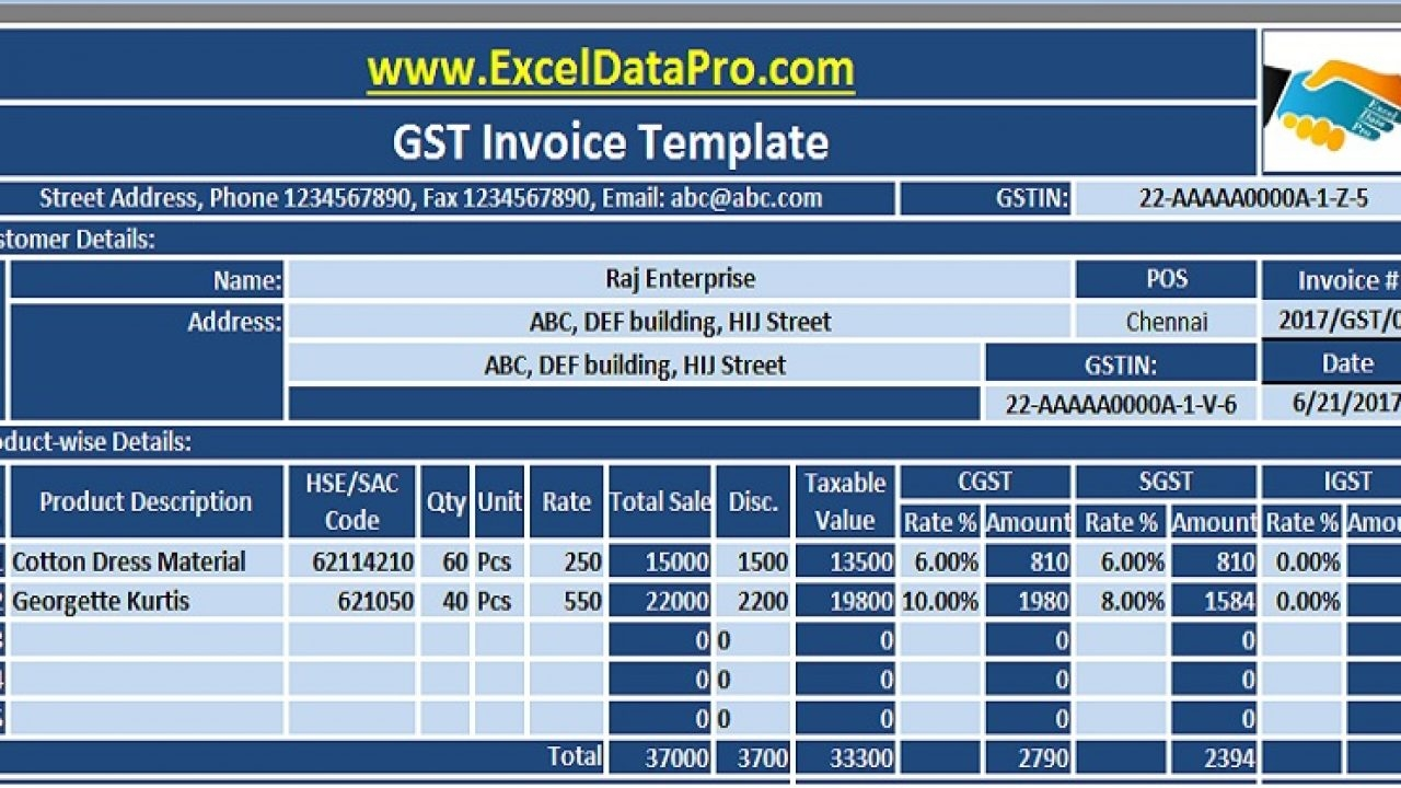 download 10 gst invoice templates in excel exceldatapro real gst invoices india grocery store images