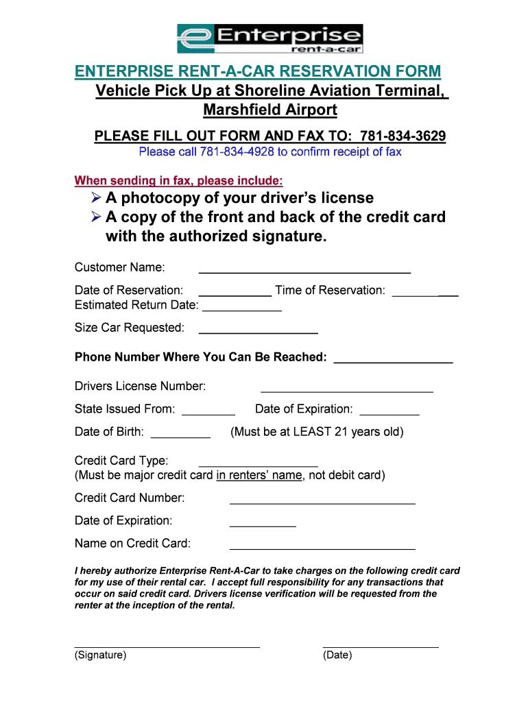 enterprise rent a car receipt fill online printable receipt for car hire