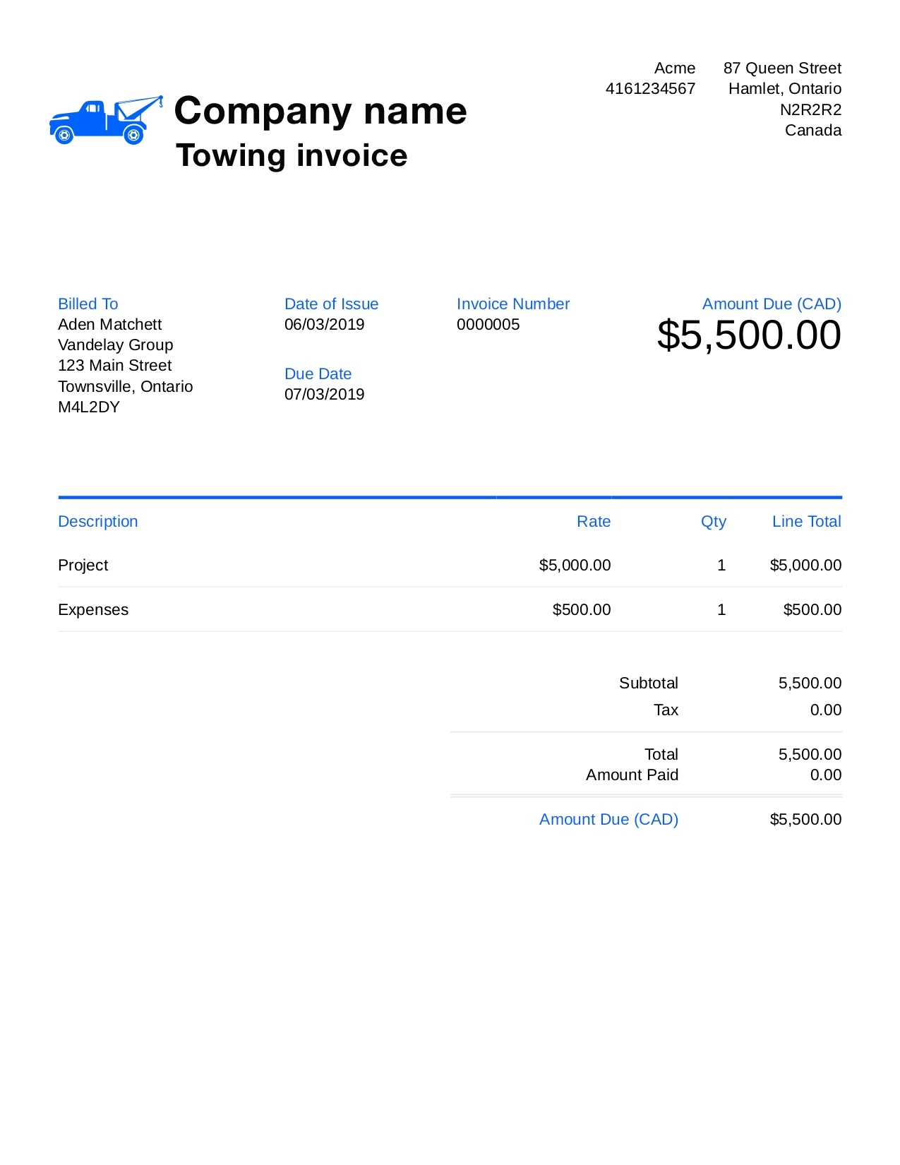 free towing invoice template customize and send in 90 seconds free towing invoice template pdf fillable free