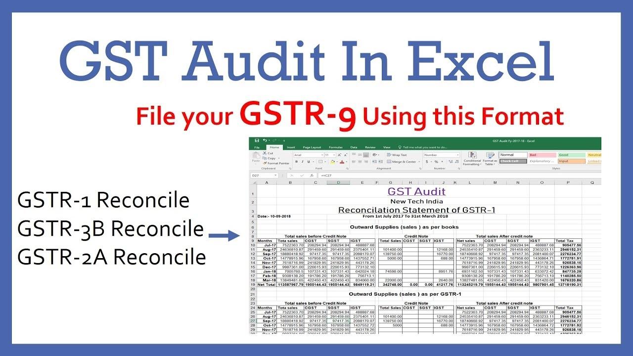 gst audit in excel format gst reconciliation format in excel