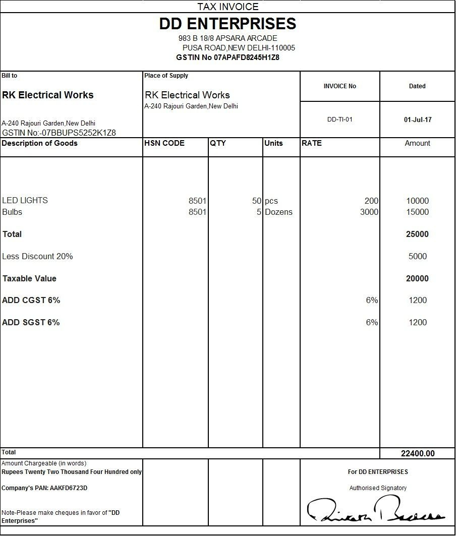 gst tax invoice template jj invoice format in excel sample invoice form gst