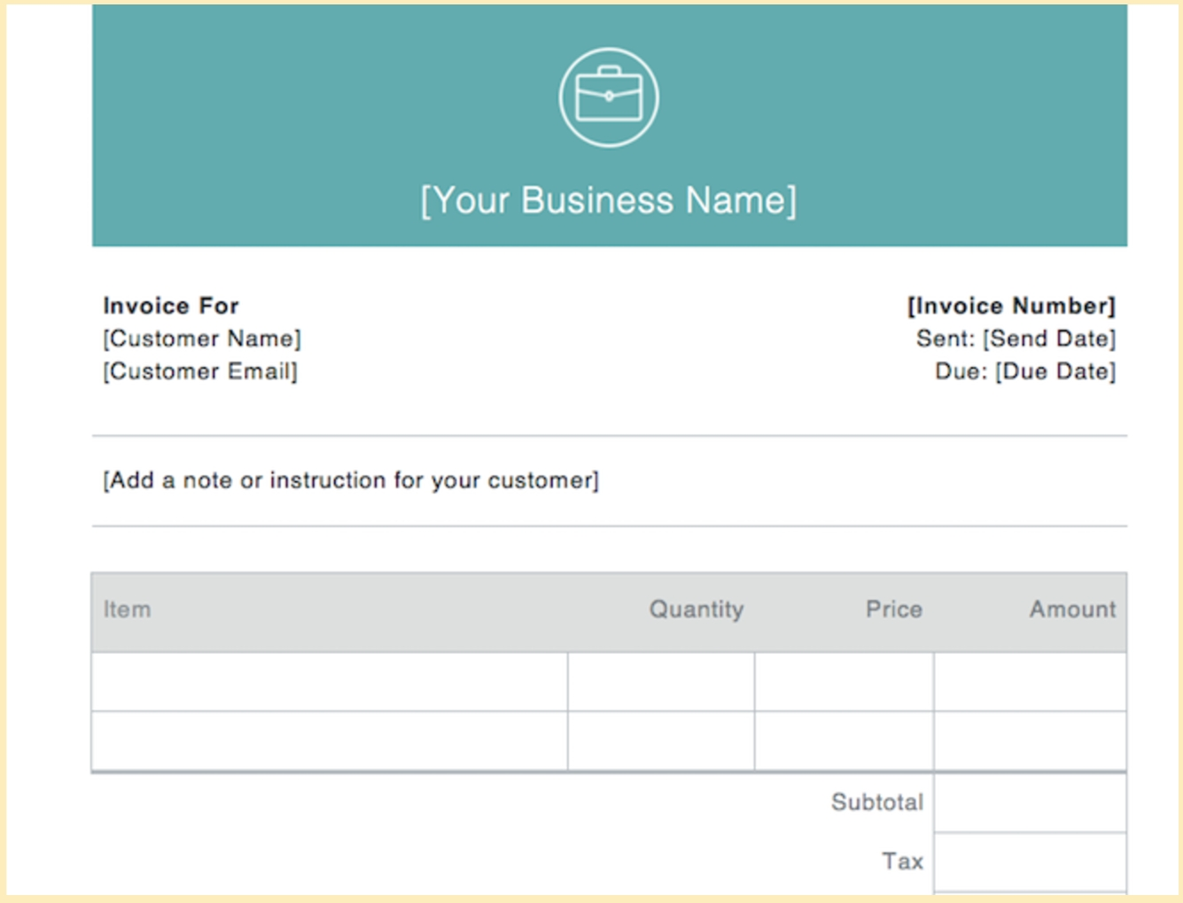 invoice examples for every kind of business due upon receipt examples