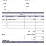 Sample Of A Half Paid Invoice