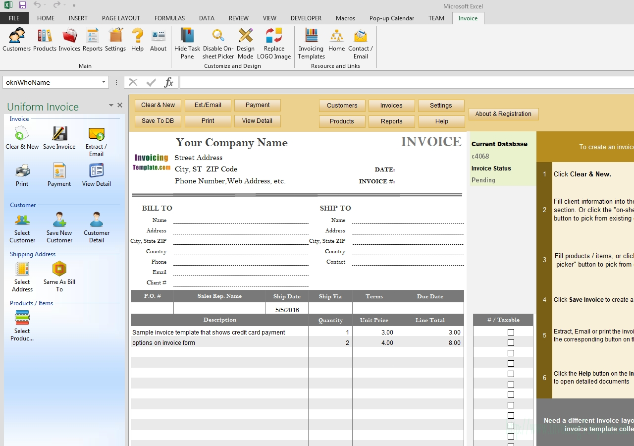 invoice template with credit card payment option sample invoice with credit card fee