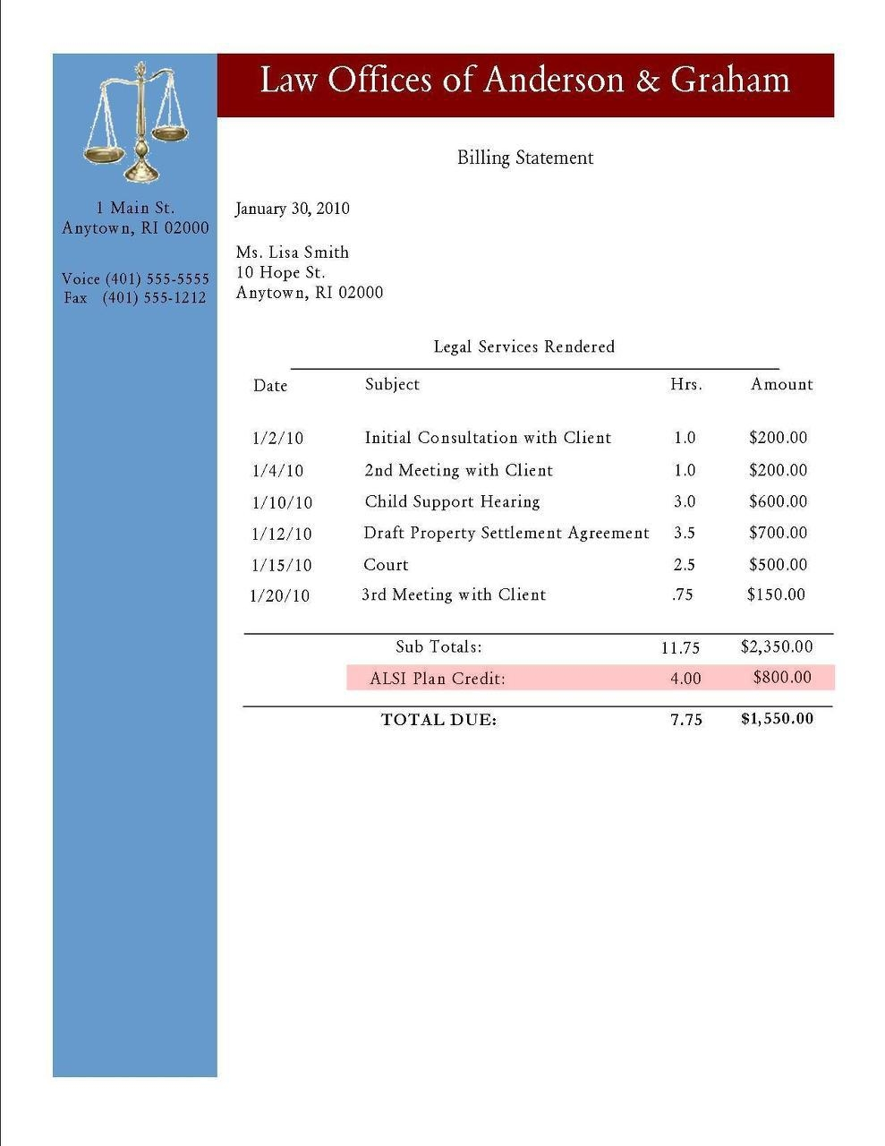 lawyer invoice template apcc2017 legal fee invoice sample